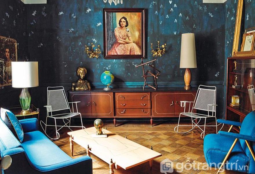 Màu sắc được sử dụng linh hoạt và đa dạng trong phong cách nội thất ngẫu phối
