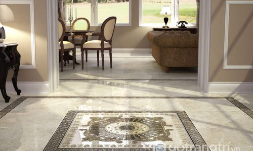 Làm mới không gian sống trong căn hộ bằng sàn nhà họa tiết