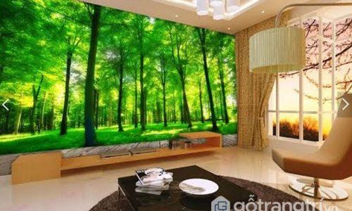 Cách lựa chọn tranh 3D dán tường cho phòng khách đẹp nhất