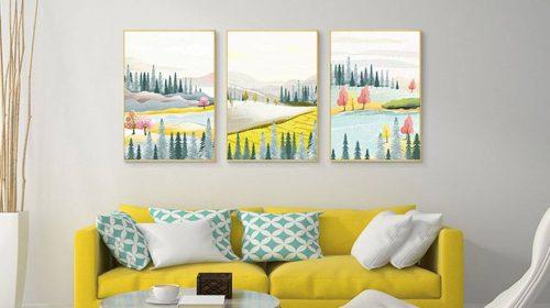 Hướng dẫn cách chọn tranh ảnh trang trí nội thất chung cư