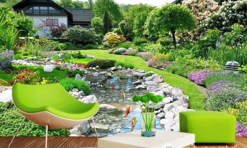 Vì sao nên chọn tranh dán tường 3D phong cảnh trong trang trí nhà cửa?