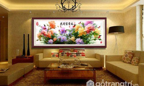 Tư vấn lựa chọn tranh treo tường phòng khách như thế nào phù hợp