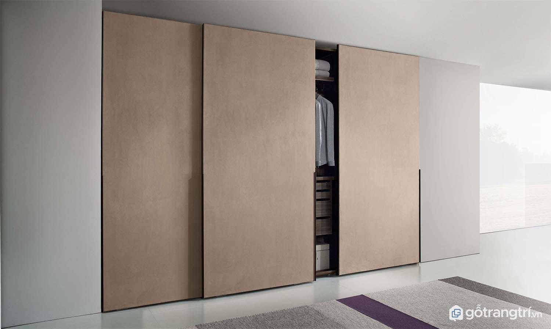 Tủ quần áo cửa lùa giúp tiết kiệm không gian