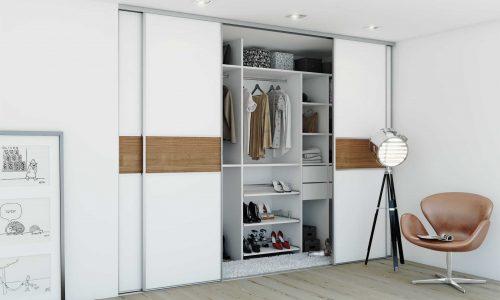 Những mẫu tủ quần áo đa năng tiết kiệm không gian phòng ngủ hẹp