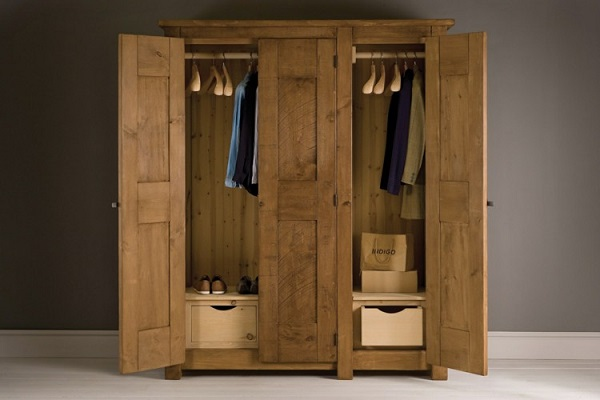 Tủ quần áo gỗ sồi có độ bền cực tốt
