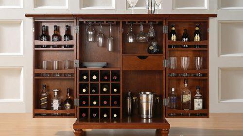 Nâng tầm đẳng cấp quý ông với những mẫu tủ rượu hiện đại
