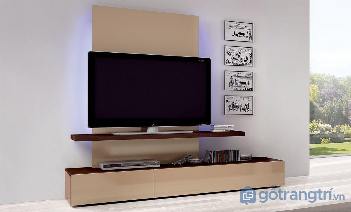 Kệ tivi phòng khách bằng gỗ tự nhiên có độ bền cao