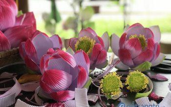 Rực rỡ sắc màu tại làng nghề hoa giấy Thanh Tiên 400 năm ở Huế