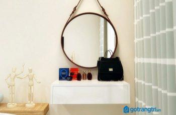 Bàn trang điểm treo tường - sản phẩm tiện ích cho phòng ngủ nhỏ