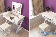 Cách chọn các mẫu bàn trang điểm kết hợp bàn làm việc hiện đại