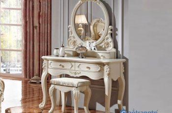 Những mẫu bàn trang điểm phong cách châu Âu hoàng gia sang trọng