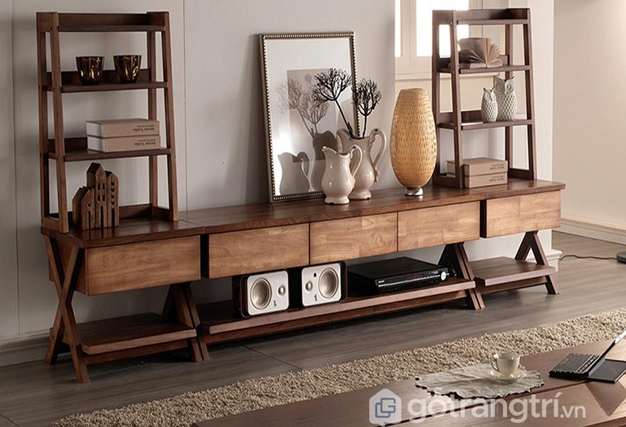 Các mẫu tivi đẹp bằng gỗ được yêu thích: phong cách hiện đại kết hợp cổ điển