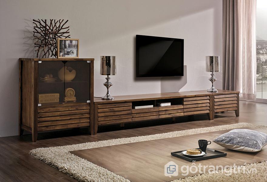 Các mẫu tivi đẹp bằng gỗ được yêu thích: phong cách cổ điển