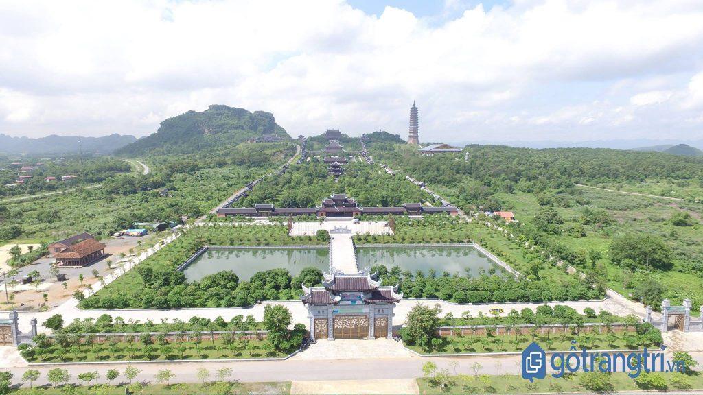 Toàn cảnh quần thể chùa Bái Đính - tỉnh Ninh Bình