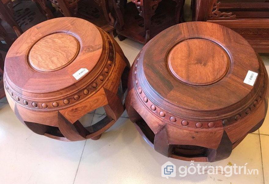 Ghế đôn gỗ hương: Chất gỗ