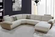 Giúp không gian nội thất phòng khách tiện nghi hơn với ghế sofa chữ U