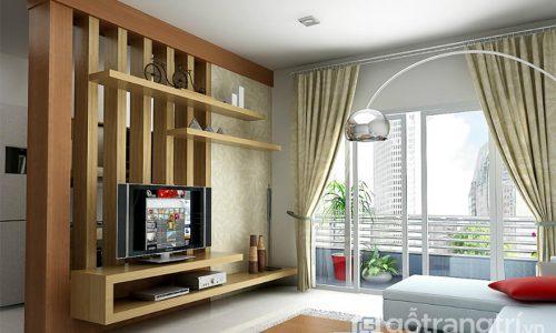 Vì sao nên sử dụng kệ tivi kết hợp vách ngăn cho phòng khách?