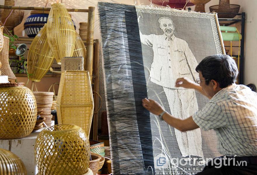 Làng nghề mây tre đan Phú Vinh - Ảnh Văn Phúc