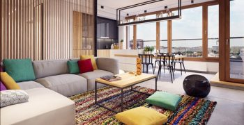 Thiết kế nội thất căn hộ hiện đại đẹp đa sắc màu ở Ba Lan (P1)