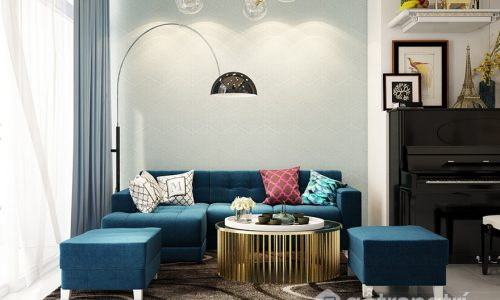 Những mảng màu đơn sắc tạo nên nét đẹp thanh lịch cho thiết kế căn hộ