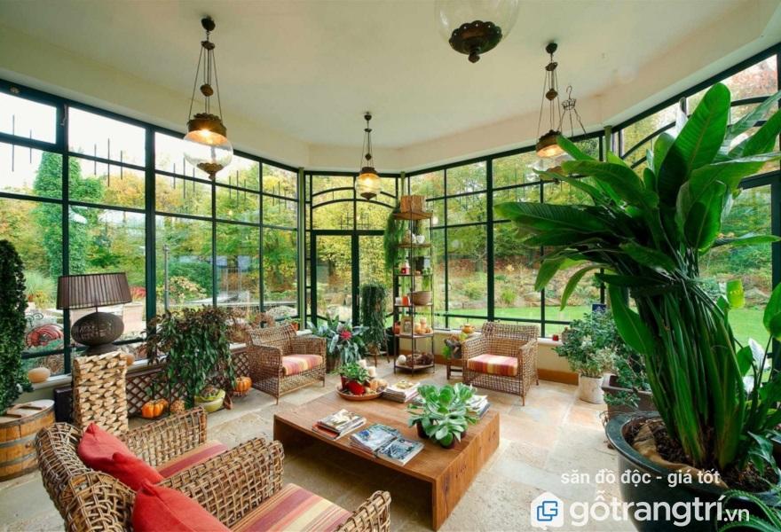 thiết kế nội thất phòng khách tuổi Canh Dần