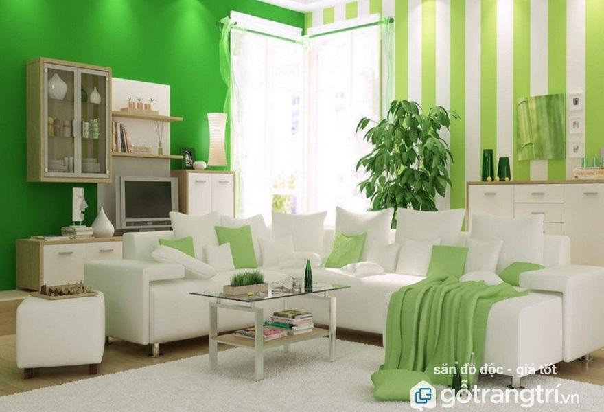 thiết kế nội thất phòng khách tuổi Tân Mão hợp phong thủy