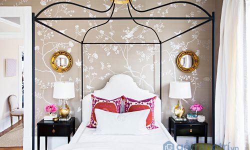 Trang trí phòng ngủ nữ tính với những họa tiết hoa lá cành ấn tượng