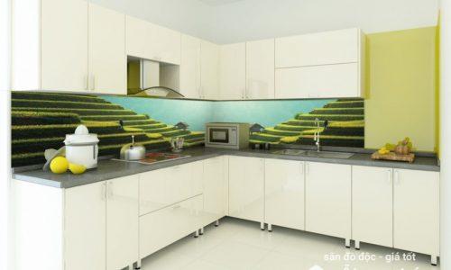 Tranh kính ốp bếp - vẻ đẹp mới lạ cho không gian bếp hiện đại