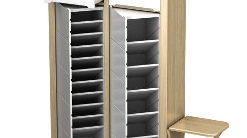Độc đáo - tiện lợi - đa năng với tủ giày xoay thông minh hiện đại