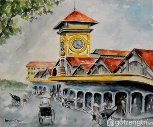 Chợ Bến thành là biểu tự kiến trúc của Sài Gòn - Ảnh internet