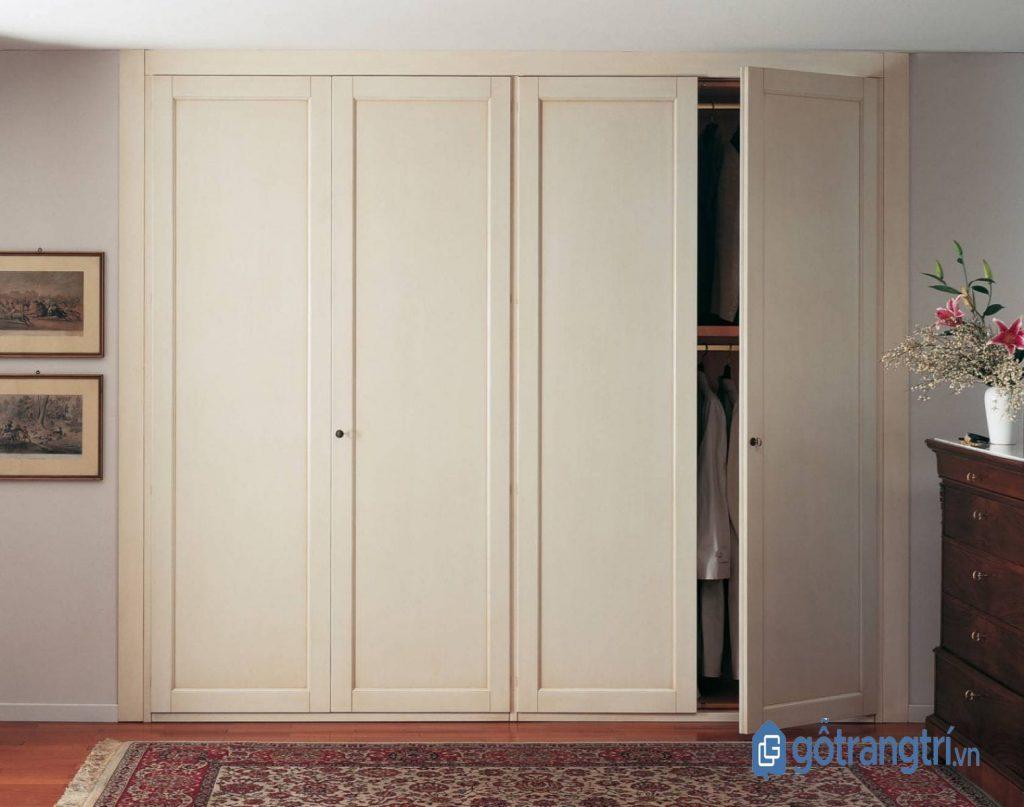 Tủ quần áo hiện đại âm tường tiết kiệm diện tích phòng ngủ. (Ảnh: internet)