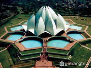 Đền Lotus là một trong những tòa nhà nổi tiếng trên thế giới (Ảnh Internet)