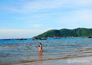 Hình ảnh bãi biển Cảnh Dương - Ảnh internet