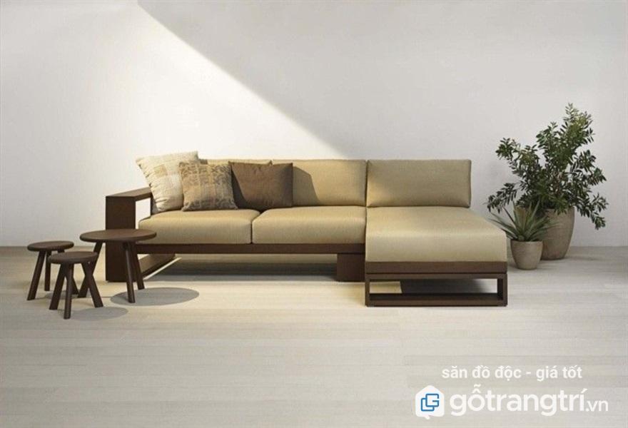Bàn ghế sofa gỗ phòng khách