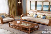 Tổng hợp tất cả các mẫu bàn ghế sofa gỗ phòng khách đẹp hiện đại