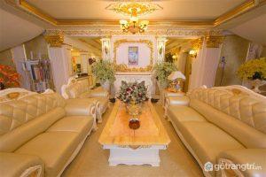 Phòng khách của biệt thự đẹp Lý Nhã Kỳ - Ảnh Internet