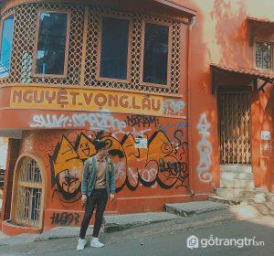 Ngôi nhà gây ấn tượng với màu sơn đỏ - Ảnh internet