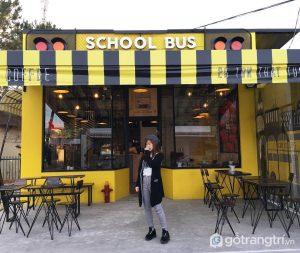 School Bus Coffee – là quán cafe tông vàng nổi bật - Ảnh internet