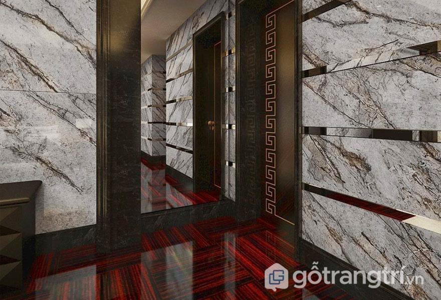 Ứng dụng đá cẩm thạch vào không gian nhà ở đơn giản mà đẹp (Ảnh internet)