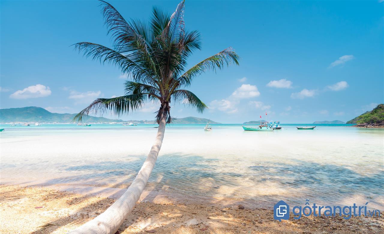 Bãi biển xanh đầy cát trắng trên đảo Nam Du. (Ảnh: Internet)