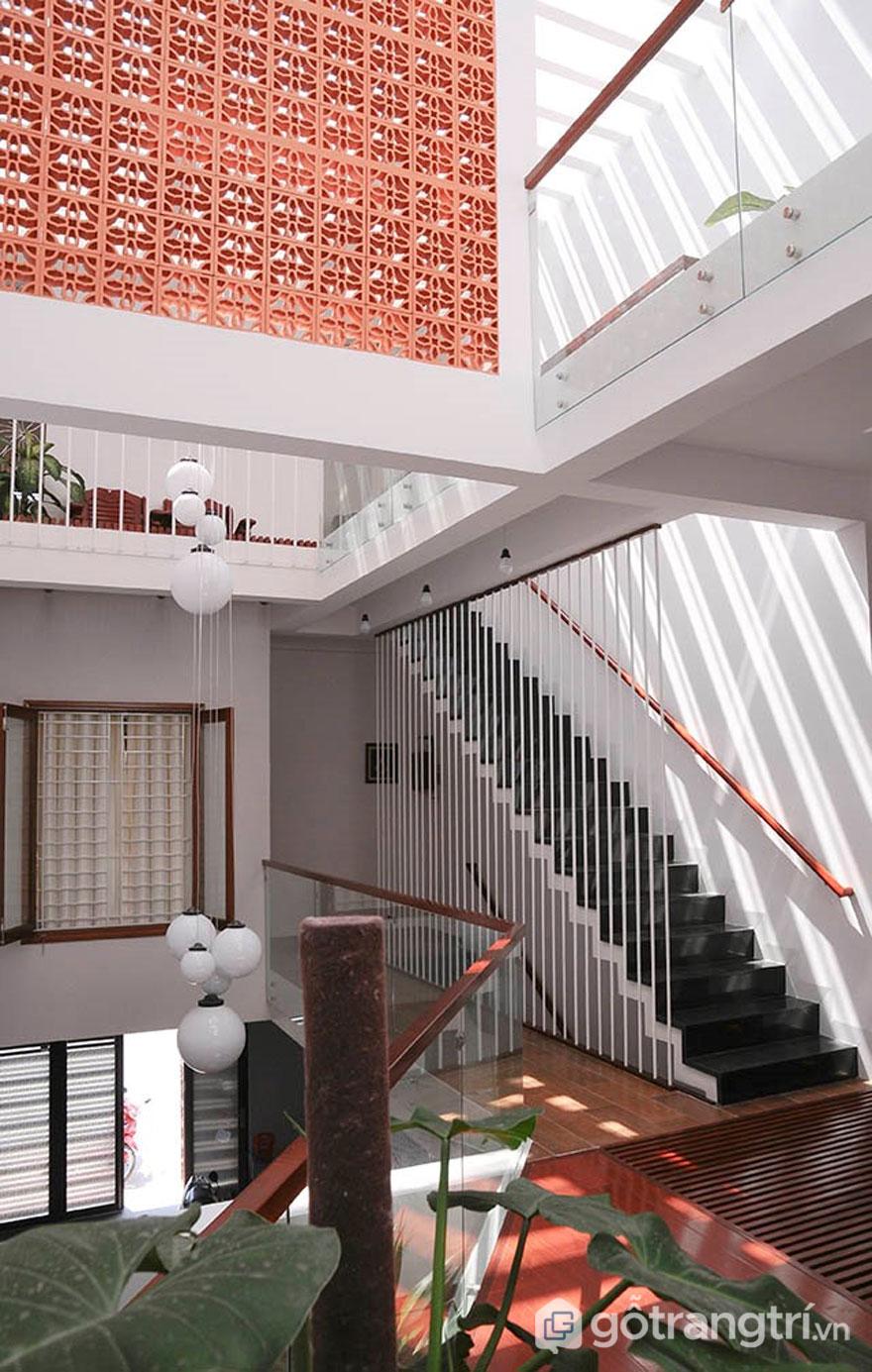Gạch bông gió được ứng dụng trong kiến trúc nhà Việt - Ảnh: Internet