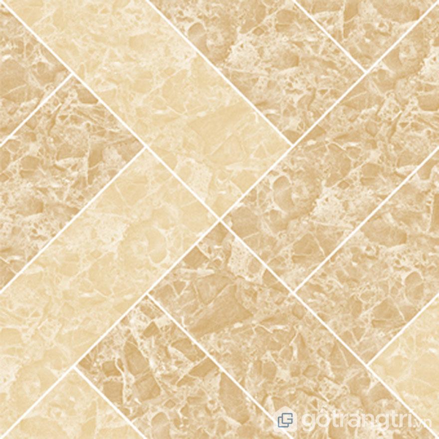 Hình ảnh một viên gạch lát nền Ceramic màu vàng kem vân đá - Ảnh: Internet