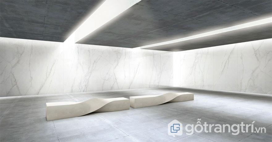 Gạch lát Porcelain được sản xuất trên quy trình công nghệ in 3D - Ảnh: Internet