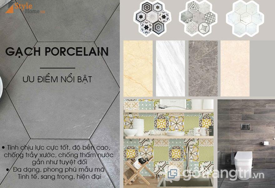 Ưu điểm nổi bật của gạch lát nền Porcelain - Ảnh: Style Home