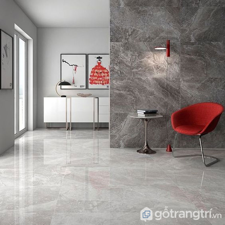 Gạch Porcelain có bề mặt nhẵn nên dễ dàng vệ sinh sạch sẽ - Ảnh: Internet