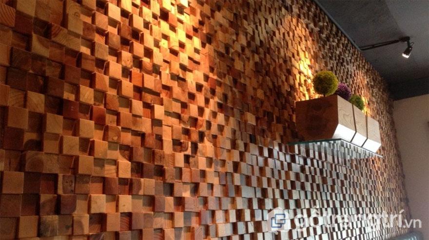 Gạch mosaic được trang trí những khu vực cần có khả năng tiêu âm cao - Ảnh: Internet
