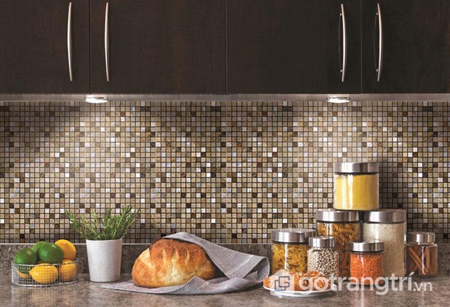 Gạch Mosaic men ứng dụng thiết kế nhà bếp - Ảnh: Internet