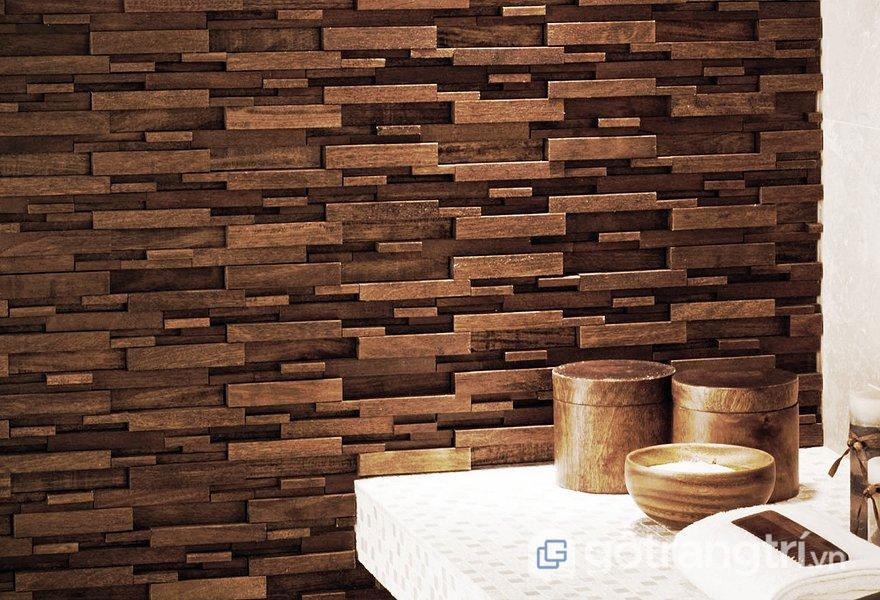 Gạch Mosaic gỗ - Ảnh: Internet