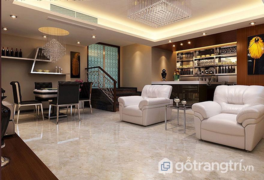 Gạch ốp sàn granite dùng lát nền sàn nhà sáng bóng - Ảnh: Internet