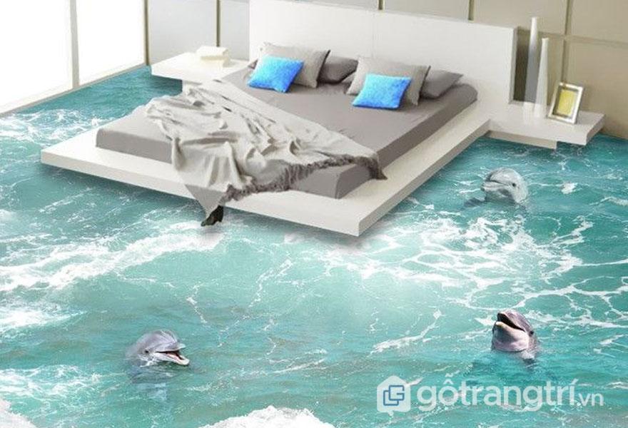Gạch ốp lát sàn 3D trông giống như bức tranh nghệ thuật - Ảnh: Internet